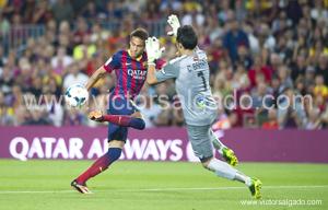 Barcelona, ESPANA - Septiembre 24 - Liga futbol profesional 2013/2014 - Liga bbva - Futbol Club Barcelona - FC Barcelona - FC Barcelona vs Real Sociedad - jornada 06 de La Liga 2014 en el Camp Nou el 24 de Septiembre de 2013 en Barcelona, Espana. (Photo:
